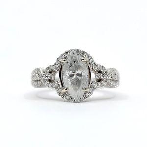 2.92 Carat Marquis Diamond Engagement Ring